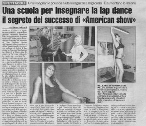 American Show Lap Dance Toscana Scuola
